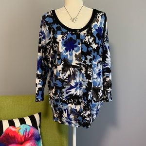 Lane Bryant Floral Cardigan Sweater 18/20 D1